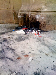 Unfallstelle am Charlottenburger Tor