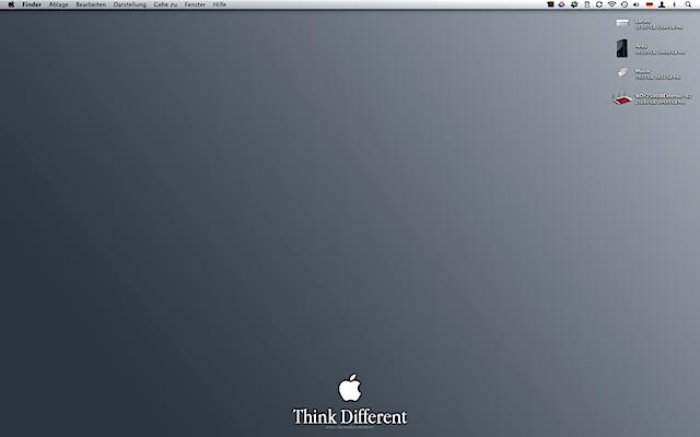 Desktop meines Mac mini